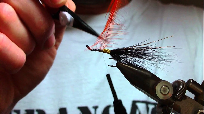 Tying salmon flies the duck n feadly shrimp