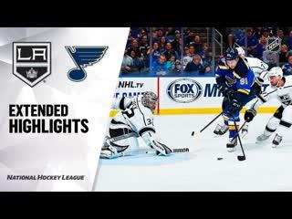 """НХЛ-2019/20. Матч №10. """"Сент-Луис"""" - """"Лос Анджелес"""" 5:2 - Обзор Встречи ()"""
