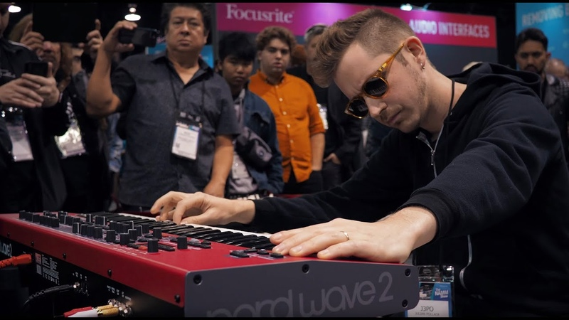 Nord at NAMM 2020 Julian J3PO Pollack showcasing the Nord Wave 2