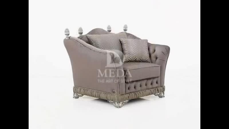 Элитная коллекция мягкой мебели АРИСТОКРАТ фабрики MEDA Эксклюзивность и роскошь коллекции Аристократ прекрасно видна в наше