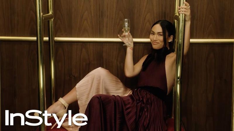 Stephanie Shepherd 2020 Golden Globes Elevator InStyle
