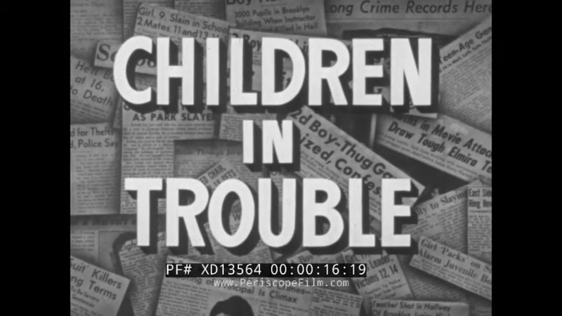1947 NEW YORK STATE YOUTH COMMISSION JUVENILE DELINQUENCY JUVENILE DETENTION FILM XD13564
