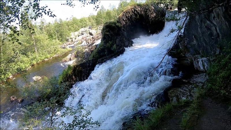 Водопад Шуонийоки в Мурманской обл