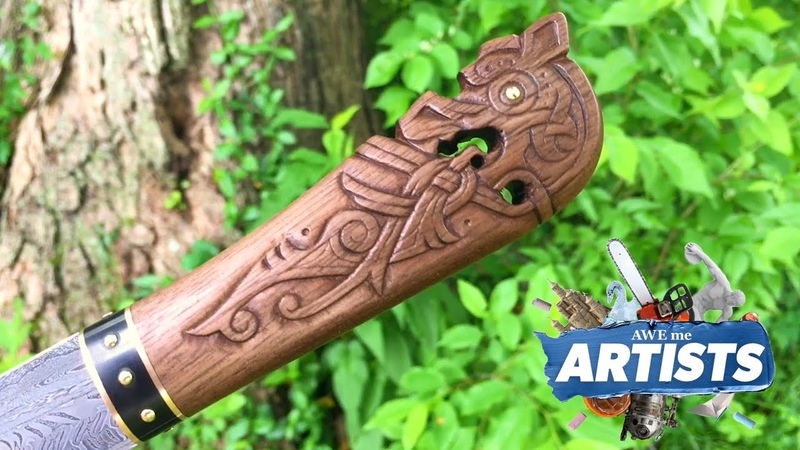 Carving the Dead Dragon Seax - Awe Me Artists Series
