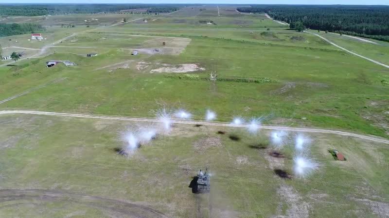 Эпичные кадры дымовой завесы в исполнении Challenger 2