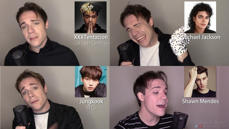 ONE GUY 54 VOICES With Music Drake TØP P ATD Puth MCR Queen Famous Singer Impressions