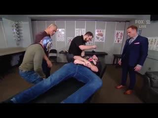 Кейн Веласкес и Брок Леснар на шоу WWE