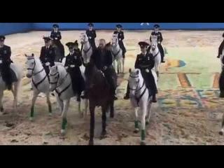 """""""Ход конем назад"""" Путин на коне пятится назад Смешной момент с конной полицией и Путиным"""