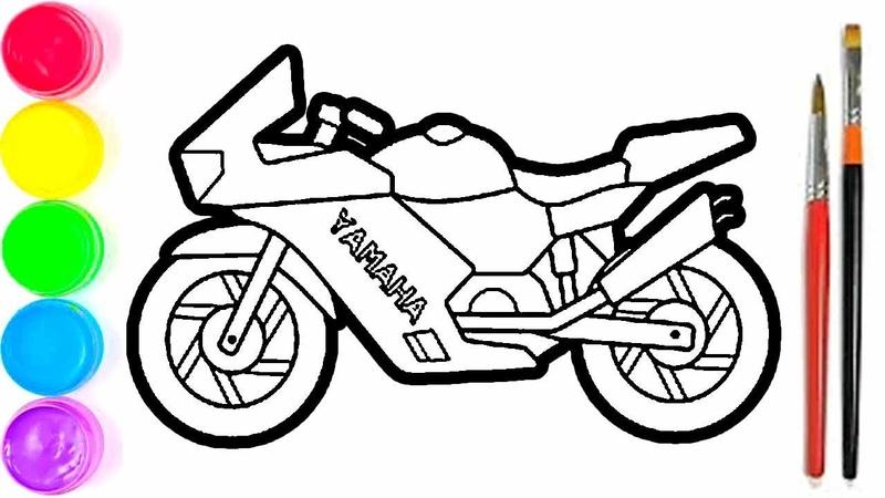 Pelajari Menggambar Dan Mewarnai Mainan Motor Untuk Anak anak