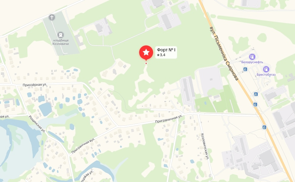 В районе 1-го форта в д. Козловичи началось благоустройство?