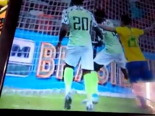 Nigeria keeper francis uzoho have been pulled out of the game bcos of anchor injury nigvsbra branga