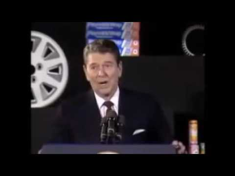 Ronald Reagan tells a joke about buying a car in the Soviet Union