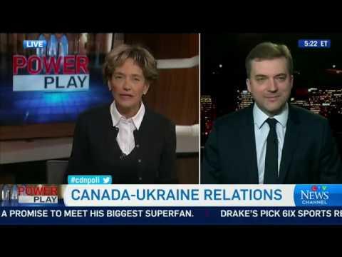 Міністр оборони України Андрій Загороднюк в ефірі CTV News