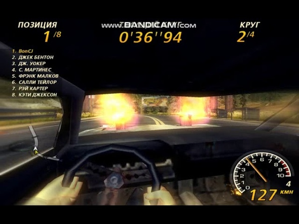 FlatOut2 Timberlands 2 Derby Class All Laps 242.00 Malice first person