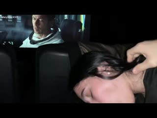 Public oral creampie at the cinema from the cutest teen maryvincxxx