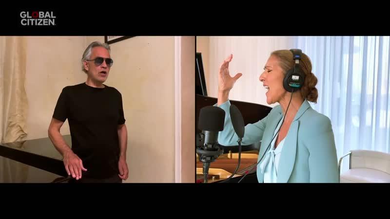 Celine Dion Andrea Bocelli Lady Gaga Lang Lang John Legend perform The Prayer ¦ OW TAH