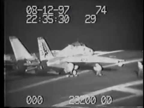 F-14 ejection on deck