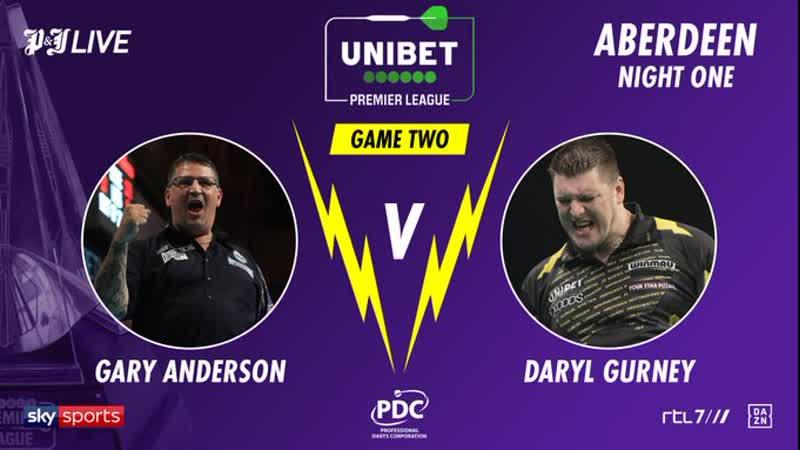 2020 Premier League Week 1 Anderson vs Gurney