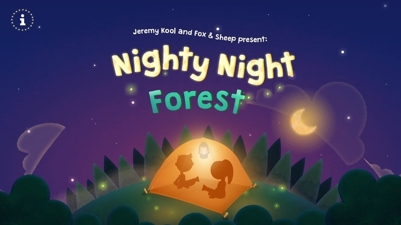 Nighty Night Forest   Lovely bedtime story app for kids toddlers (by Fox Sheep)