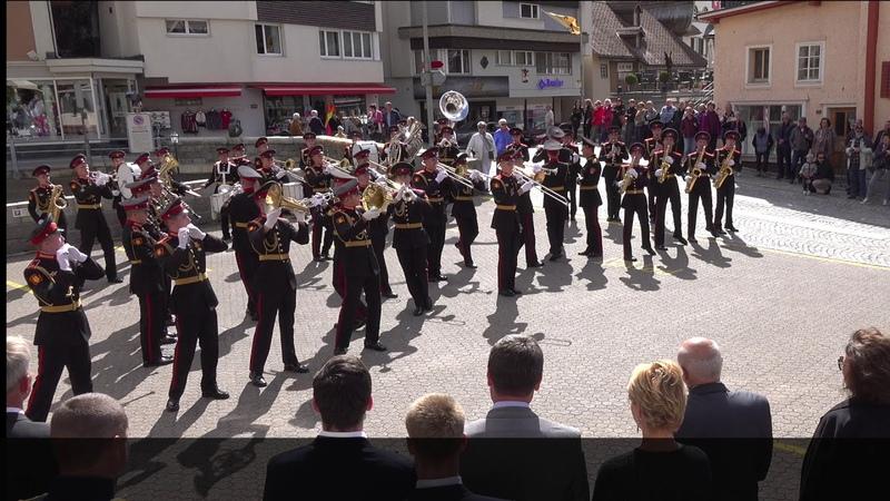 Suworow Kadetten in Andermatt 24.09.2019 - Суворовские курсанты в Андерматте (Швейцария) - Panorama
