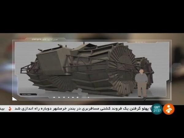 Iran Old design Heavy wetland vehicle dubbed Jabbal Iran Iraq war era جبل خودرو سنگين باتلاق رو