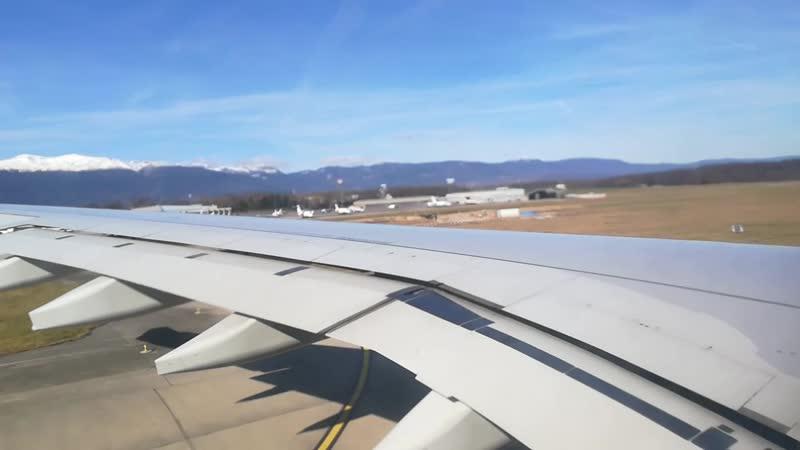 Вылёт из аэропорта Женевы
