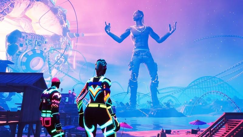 FULL Fortnite X TRAVIS SCOTT Event Gameplay *NO COMMENTARY* [4K60]