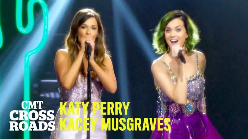 Katy Perry Kacey Musgraves Perform 'Roar' 🦁 CMT Crossroads