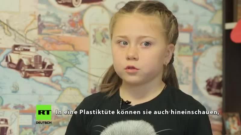 Greta aus der russischen Provinz Interview mit Doppelgängerin der schwedischen Klima-Ikone