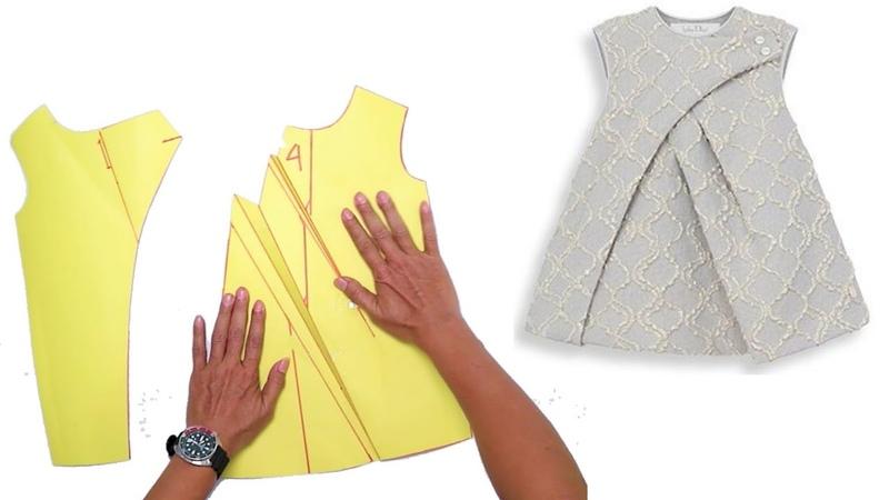 Pleated kid dresses Pattern making