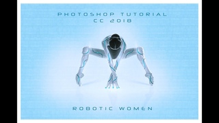 Women Robotic Effect in Photoshop   Cyborg Tutorial   Photoshop Tutorial