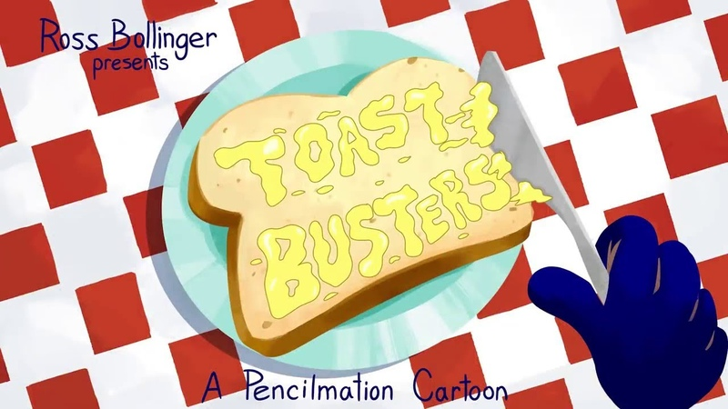 Episode Toast Buster and More Pencilmation! funny cartoon animated short film pencilmation