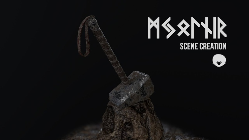 Mjölnir (Thors' Hammer) | Scene Creation Timelapse | Marmoset Toolbag | Part 3/3