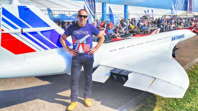 WORLDS LARGEST RC CONCORDE JET MODEL - 149KG 10 METERS - OTTO WIDLROITHER - JET POWER 2019