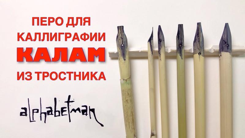 Ручка для каллиграфии своими руками. Изготавливаем тростниковое перо.