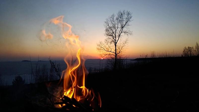 BBQ chiken vegetables 12 08 20 P 6 fire sunset