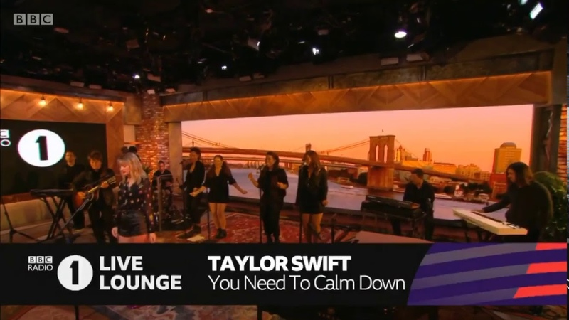 Taylor Swift - You Need To Calm Down - Live at the BBC Radio One Live Lounge