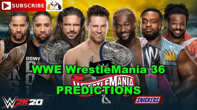 WWE WrestleMania 36 SmackDown Tag Team Championship Miz John Morrison vs Usos vs New Day WWE 2K20