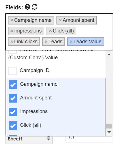 Как быстро и бесплатно импортировать в Google Таблицы статистику из Facebook, изображение №6