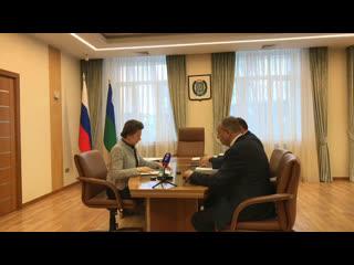 Встреча губернатора Югры с главой Ханты-Мансийска и председателем Думы города