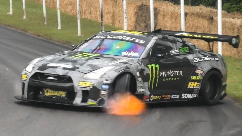 Best of Drift Cars Goodwood FOS 2019 Flames, Burnouts and Powerslides!