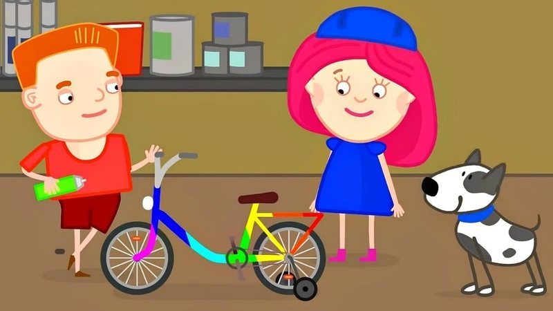 Deutscher Kindercartoon Smarta und ihre magische Tasche Wir lernen die Farben