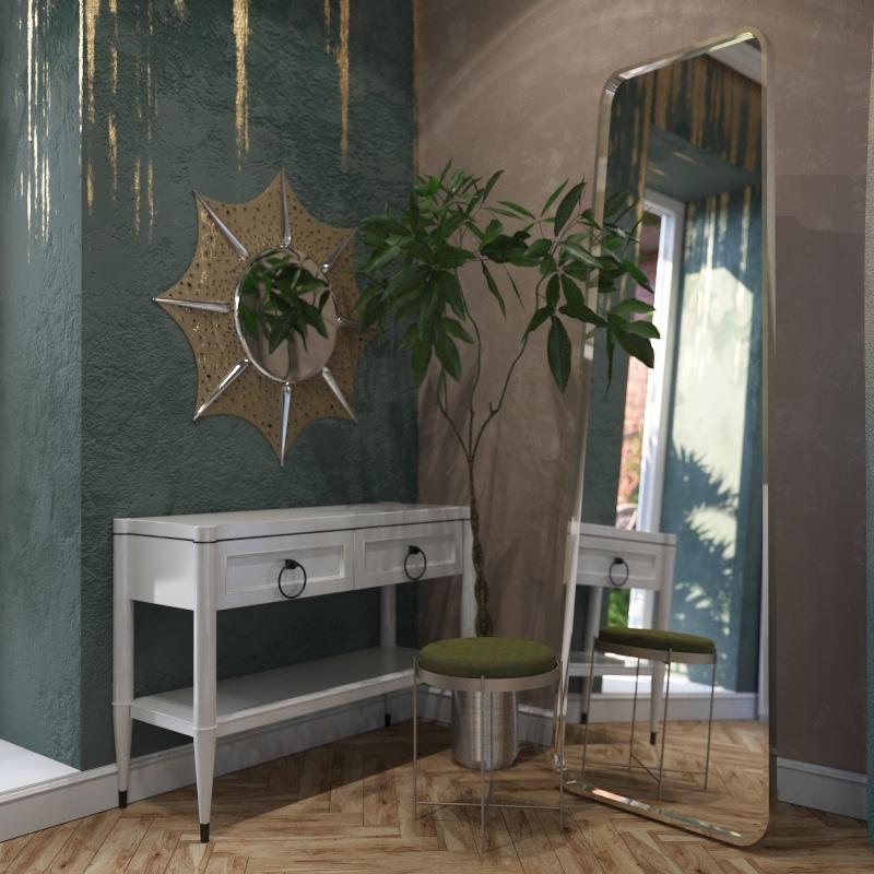 Дизайн-проект 2 -комнатной квартиры общей площадью 75 кв.