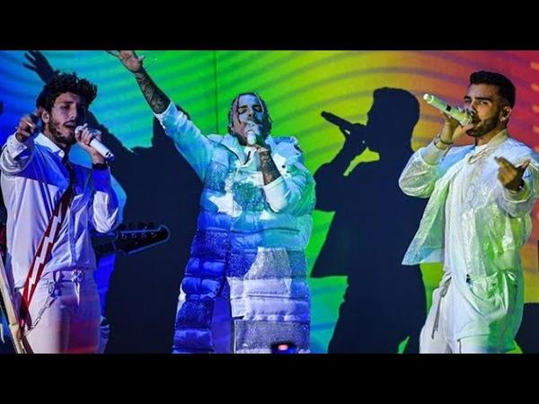 Sebastian Yatra Manuel Turizo y Raw Alejandro TBT en Vivo Premios Lo Nuestro
