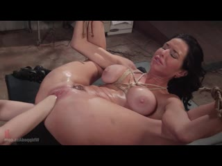 Aiden Starr - MILF Squirts for Hours - Veronica Avluv double fisted, anally fucked!, Anal, BDSM, Gape, Bondage
