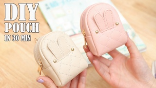 DIY LOVELY POUCH BAG / Zipper Purse Bag Tutorial PU Lather Design