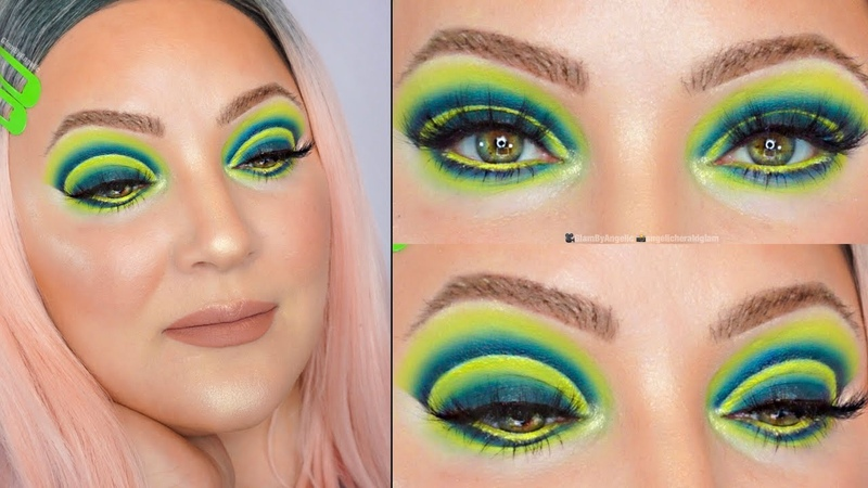NEON GREEN OMBRÉ MAKEUP TUTORIAL feat. SUBCULTURE PRISM PALETTES | GLAMBYANGELIC