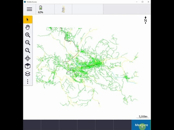 Trimble Access - adding georeferenced tif and dxf