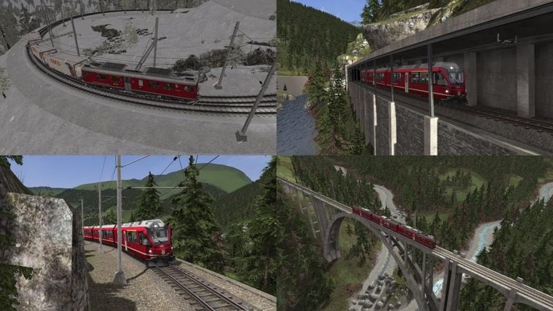 Train Simulator 2020 Швейцарская горная узкоколейка: Arosa Line и Bernina Express