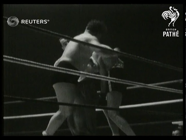 Bombardier Billy Wells comes out of retirement to box the wrestler Chick Knight at Empress...(1938)